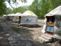 莊園中的蒙古包