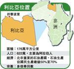 利比亞位置﹝圖片來源:明報新聞網 www.mingpaonews.com﹞